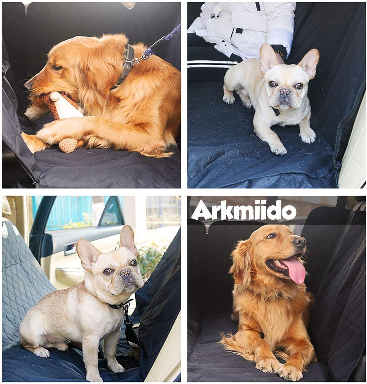 Arkmiido Hundedecke Auto f/ür R/ückbank,Wasserdicht Waschbar,Autoschondecke f/ür R/ückbank,137x147 cm