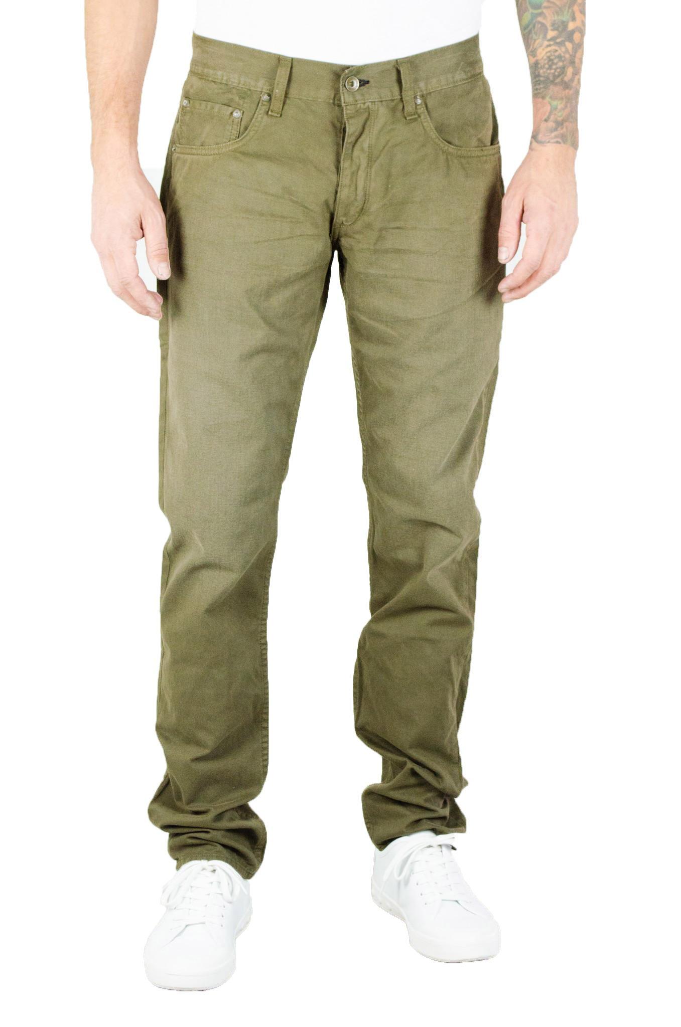 rag & bone Men's 'Fit 2' Slim Fit Twill Pants (31, Distressed Loden)