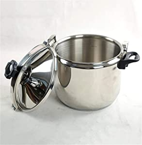 Large Capacity Explosion-proof High Pressure Cooker,3qt-40qt Commercial Stainless Steel Pressure Cooker Household Multifunctional Induction Cooker Gas Pressure Cooker Generally Steel Pressure Cooker