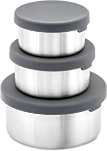 WeeSprout 18/8 Stainless Steel Food Storage Containers | Set of 3 Food Storage Containers (150 ml, 200 ml, 400 ml) | Leakproof Silicone Lids | Easy to Open | Durable | Snacks, Lunches, Sauces