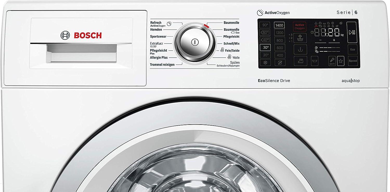 Bosch WAT287F0 Serie 6 - Lavadora frontal (A+++/137 kWh/año, 1400 ...