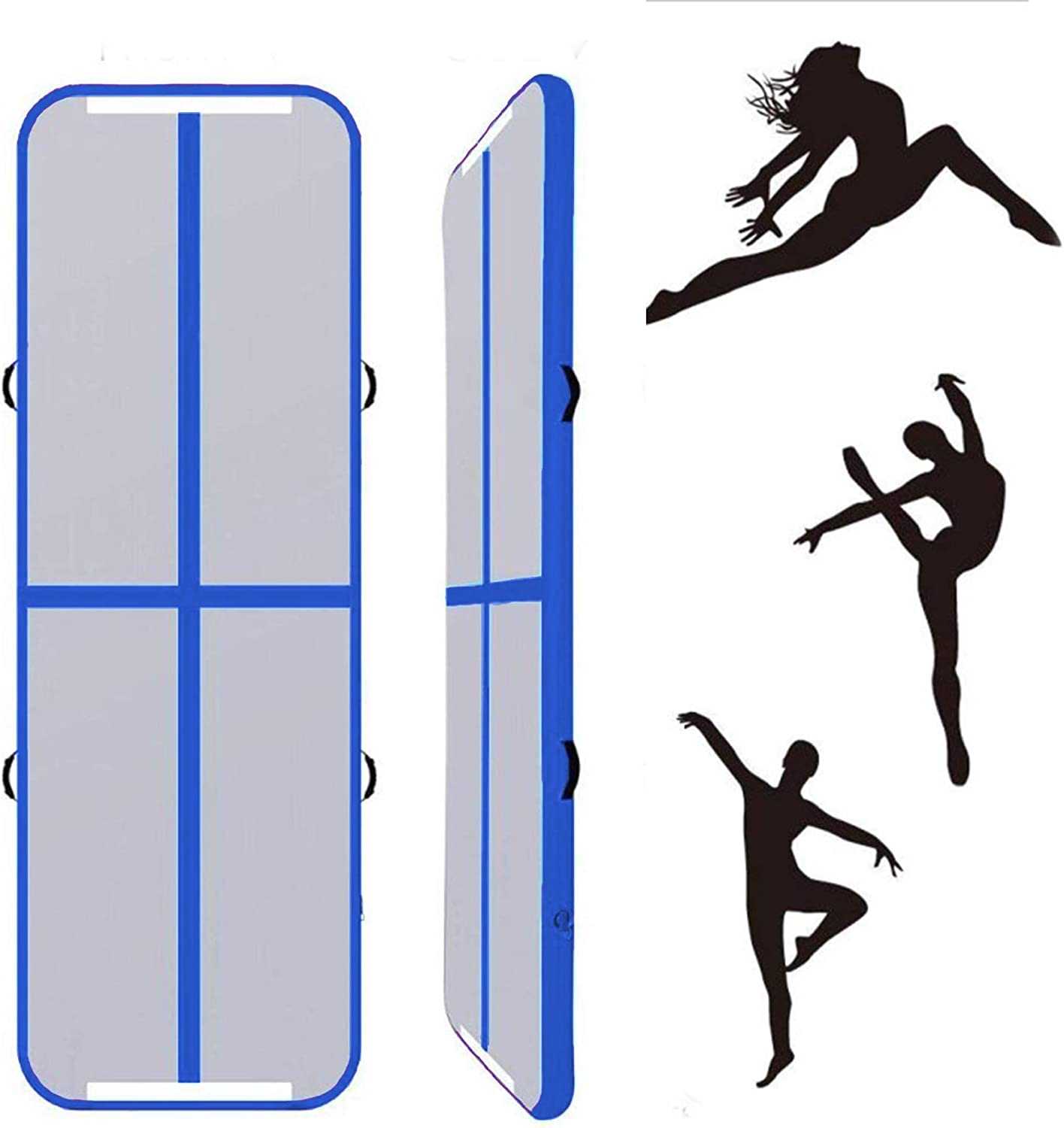 Lucear 10ft//13ft//16ft//20ft Air Track Inflatable Gymnastics Tumbling Mat AirTrack for Yoga Cheerleading Practice Gymnastics Beach Park Home use with Air Pump