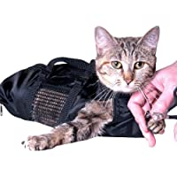 ASOCEA Cat Grooming Bag Pet Bathing Restraint Bag for Bathing Nail Trimming Injecting Fit Cats 10-15Lbs