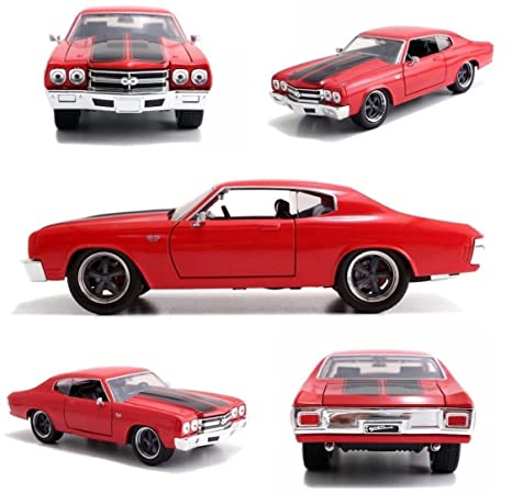 JADA 97380 THE FAST AND FURIOUS DOM/'S CHEVY CHEVELLE SS 1:32 DIECAST CAR RED