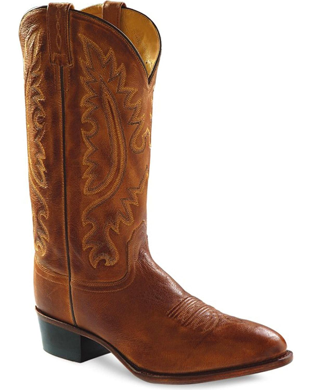 Old West Men's Western Cowboy Boot Round Toe - 5229