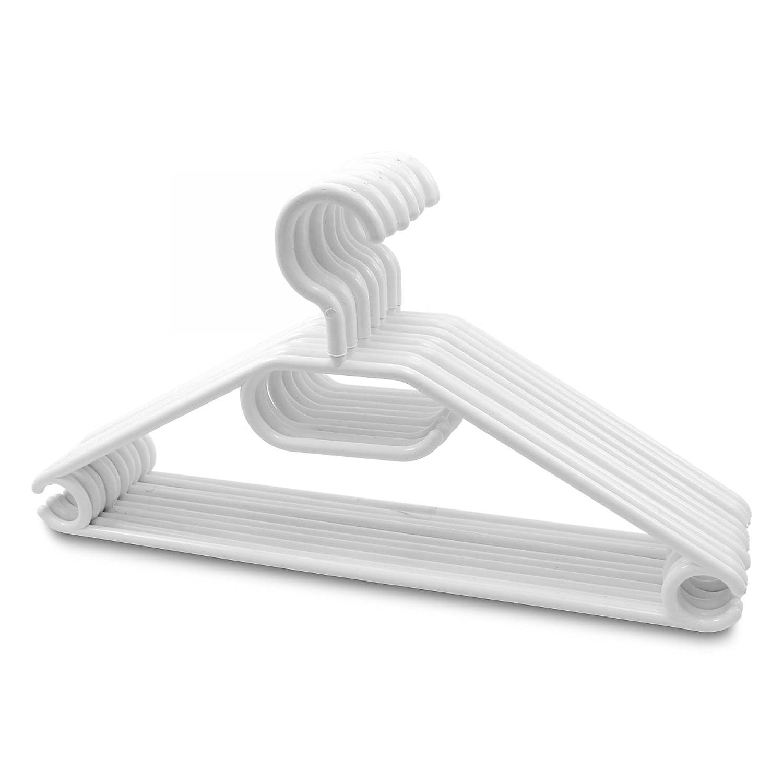 20 Stück - Kleiderbügel Kunststoff drehbarer Haken - Weiß: Amazon.de ...
