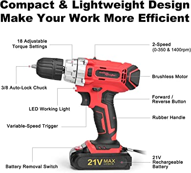 SALEM MASTER Cordless drill driver Power Drills product image 2