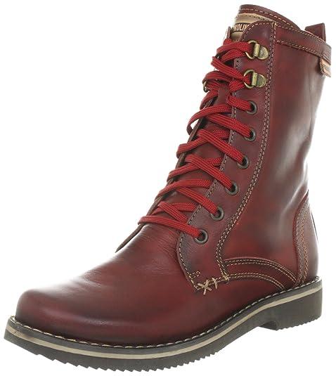 Pikolinos LANZAROTE 831-8678_I12 - Botines fashion de cuero para mujer, color rojo, talla 37: Amazon.es: Zapatos y complementos