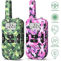 $23 » Walkie Talkie for Kids- Two Way Radio Toys with 22 Channels 83 Privacy Codes-Rechargeable Long…