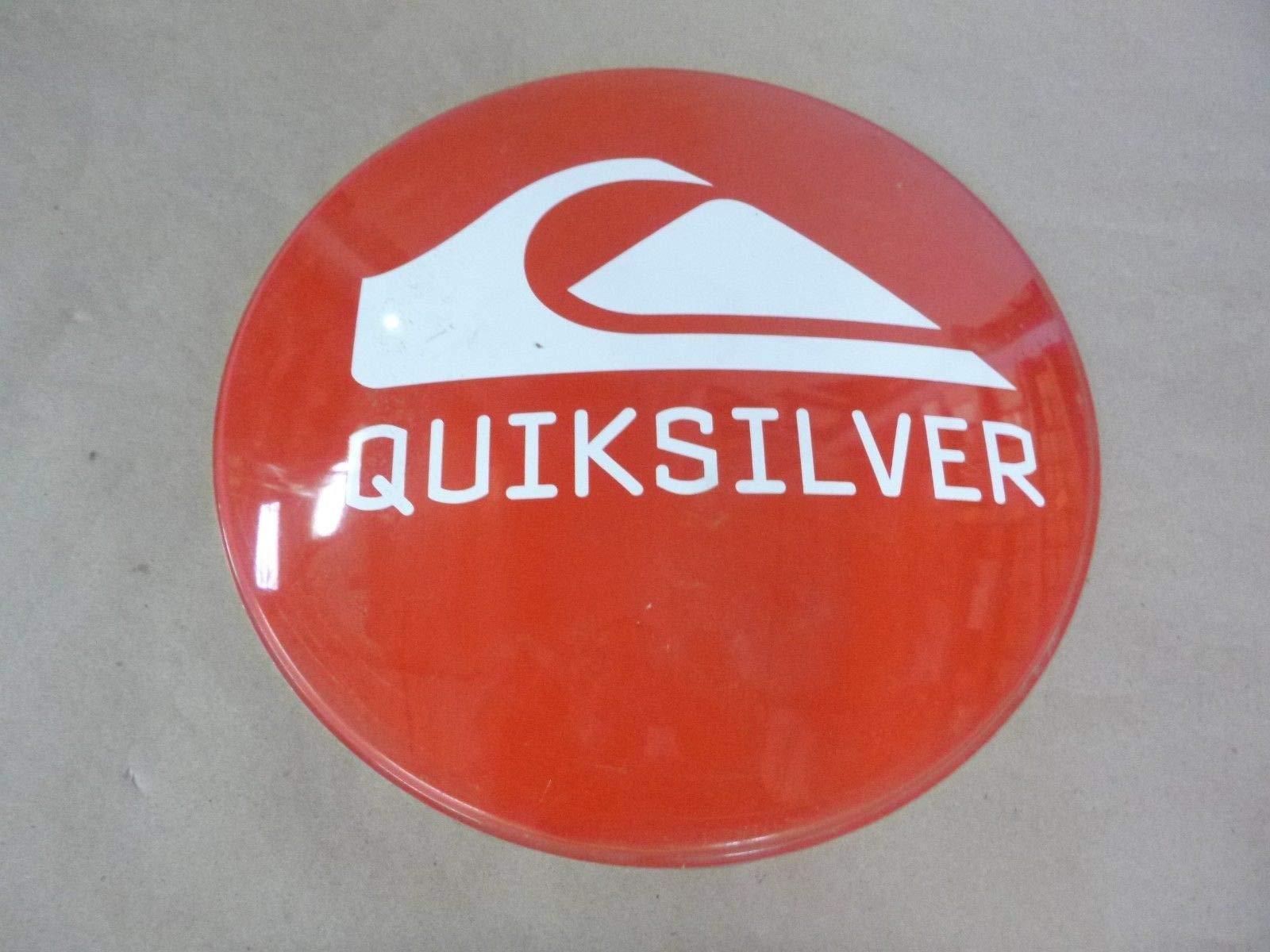 QUICKSILVER RED Bubble Advertisement Logo Aluminum Cap Sign- 12'' Diameter