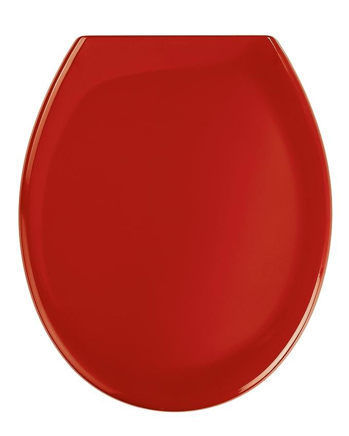 Wenko 19659100 Abattant Ottana Descente Progressive Rouge Thermodur