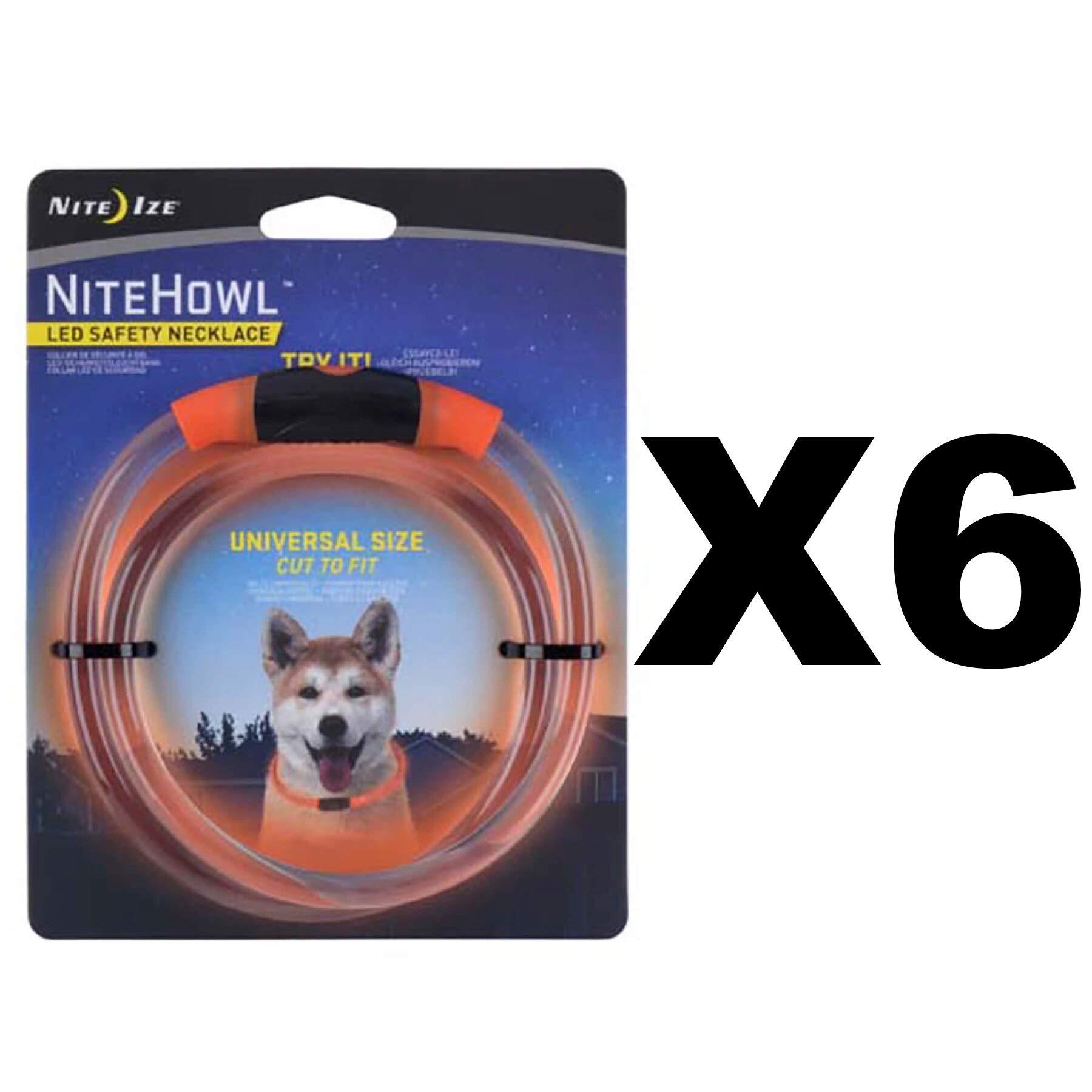 Nite Ize NHO-19-R3 NiteHowl LED Safety Dog Collar Necklace - Quantity 6