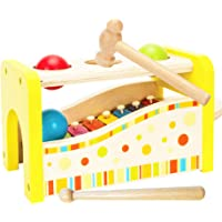 Toys of Wood Oxford Wooden Hammer and Ball Toy and Xylophone Set- Hammer Toys and Xylophone Toy for Kids