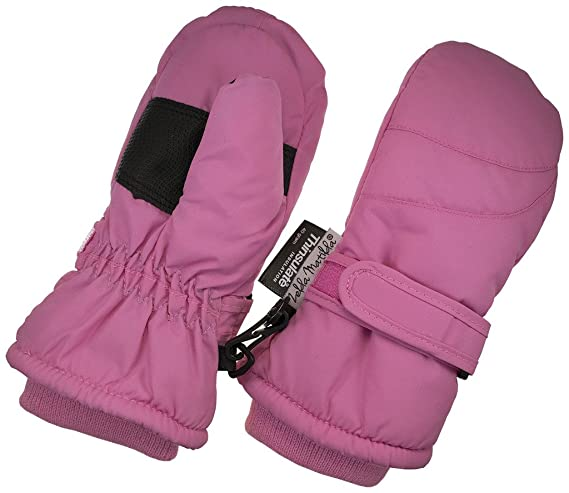 Children Toddlers and Baby Mittens Made With Thinsulate,and Fleece - Winter Waterproof Gloves By Zelda Matilda, Dark Pink, 2 - 3 Years