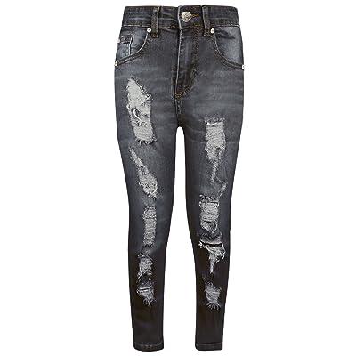 A2Z 4 Kids® Boys Stretchy Jeans Kids Ripped Black Denim Skinny Pants Jeans Trousers 5-13 Yr