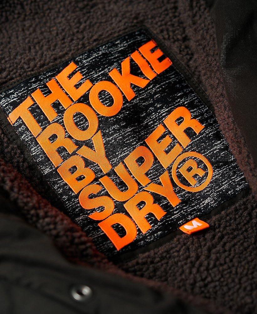 Superdry Mens Rookie Military Parka Jacket Bitter Black M