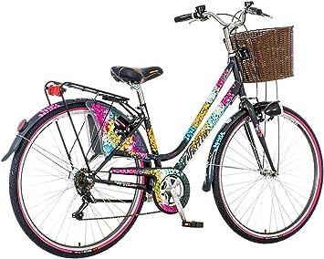 breluxx® Bicicleta de Ciudad para Mujer, 28 Pulgadas, diseño de ...
