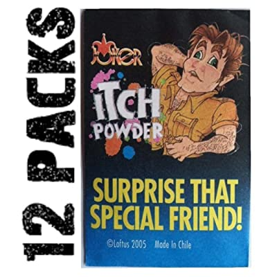 (12) Itch Itching Powder Packages ~ Funny Gag Prank Joke ~ (1 dozen): Toys & Games