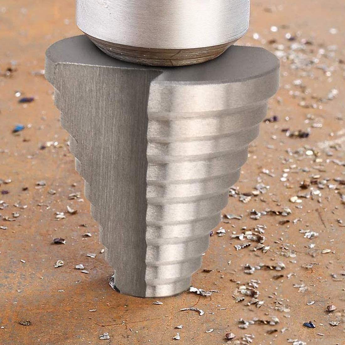 13 mm Schaft /Ø 5-35mm Stufenbohrer Sch/älbohrersatz f/ür Stahlblech bis 3mm dick oder Kunststoff//Metallblech f/ür Lochgr/ö/ße 5-35mm REYOK HSS Stufenbohrer