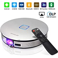 OTHA LED Proyector 3D, 3500 Lumens Mini Videoproyector Portable 1280x720 2GB RAM HDMI Videoproyector Soporte 1080P 4K Full HD, TF/USB/WiFi/Bluetooth Compartir Pantalla para iPhone Android Laptop