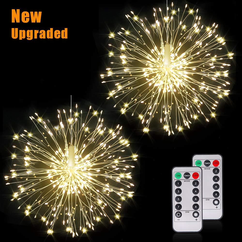 Fairy Firework String Lights Wire Lights,120 LED DIY 8 Modes Dimmable Lights