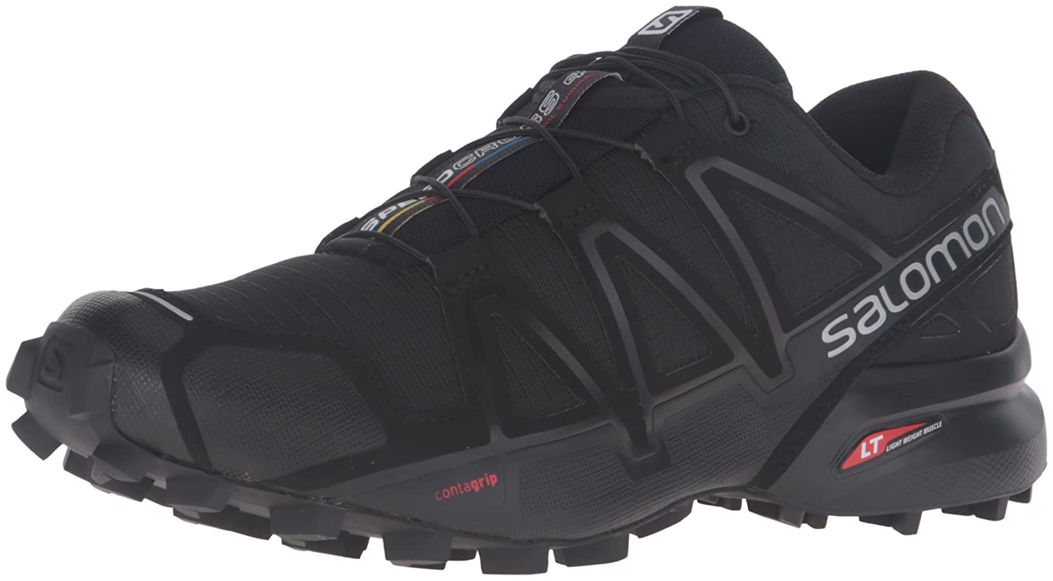 Salomon Women's Speedcross 4 W Trail Runner B017SQZW7O 8.5 M US|Black/Black/Black Metallic