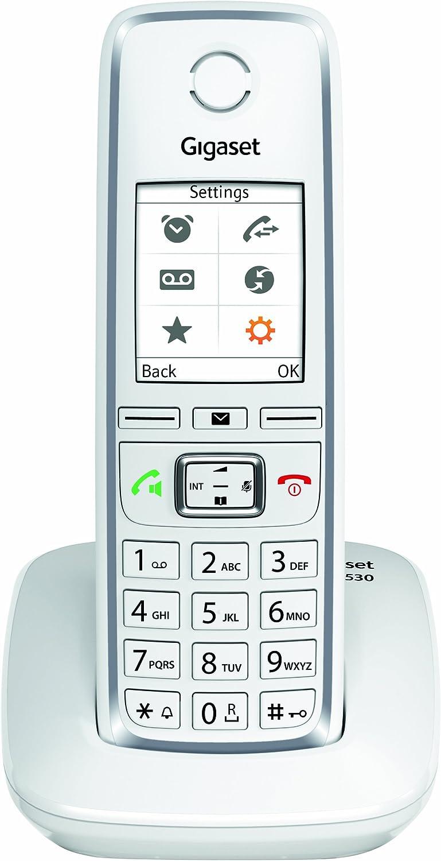 Gigaset C530 - Teléfono (Teléfono DECT, Terminal inalámbrico, 200 entradas, Identificador de Llamadas, Blanco)