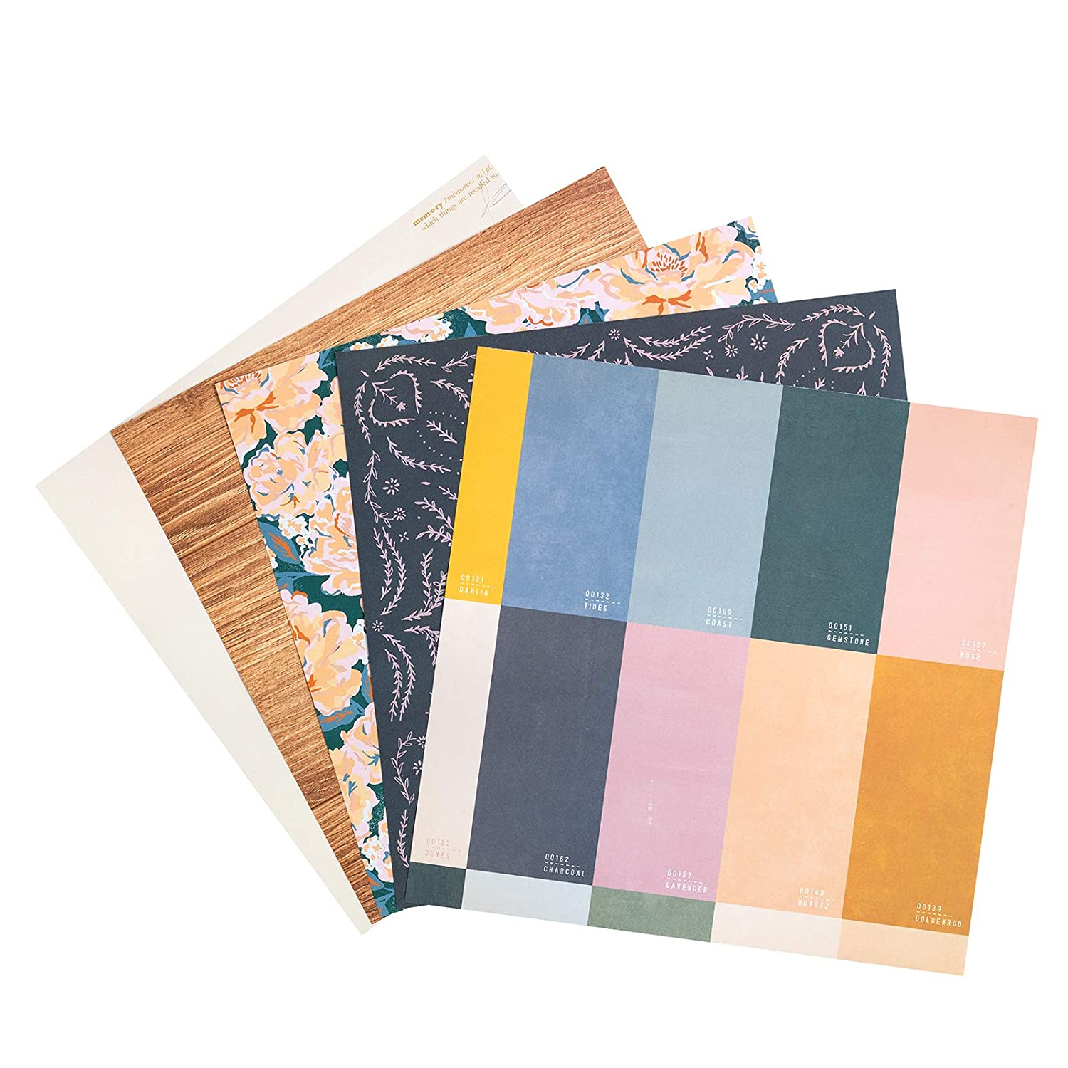 48 Sheets 24 Designs Medium Weight Paper Crate Paper American Crafts 12 x 12 Heritage Patterned Paper Pad