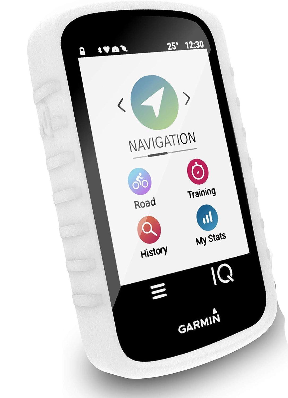 Tuff-Luv Funda de Silicona para Garmin Edge Explore Blanco