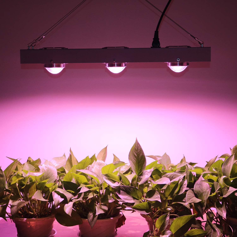 nielado COB 600/W LED Grow Light Full Spectrum Grow Lamp 120/de Degree Reflectors LED Plant Light with High par Value and High Lumen for Hydro ponics Green House Indoor Plant Veg and Flower Sistema