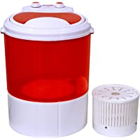 Hilton 3 kg Semi-Automatic Top Loading Washing Machine (HIMW-300, Red)