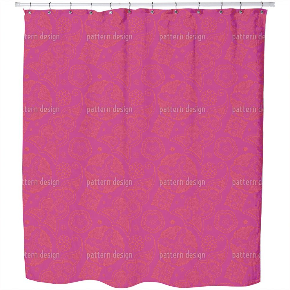 Uneekee Henna Extreme Shower Curtain: Large Waterproof Luxurious Bathroom Design Woven Fabric