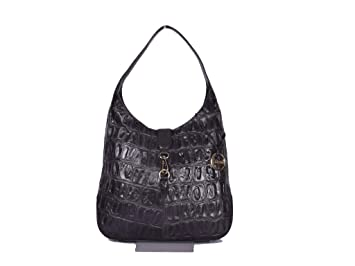 47031d824d3e Image Unavailable. Image not available for. Colour  Klasse Women s Black  Genuine Leather Shoulder Bag