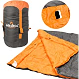 Milestone Camping 26730 Envelope Sleeping Bag Double Insulation Grey & Orange
