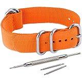 Vinband Cinturini Orologi Alta qualità Nylon Orologi Bracciale 5 Anello 1 Pezzo - 20mm, 22mm, 24mm Cinturino Orologio Addensare Anello in Acciaio Inossidabile