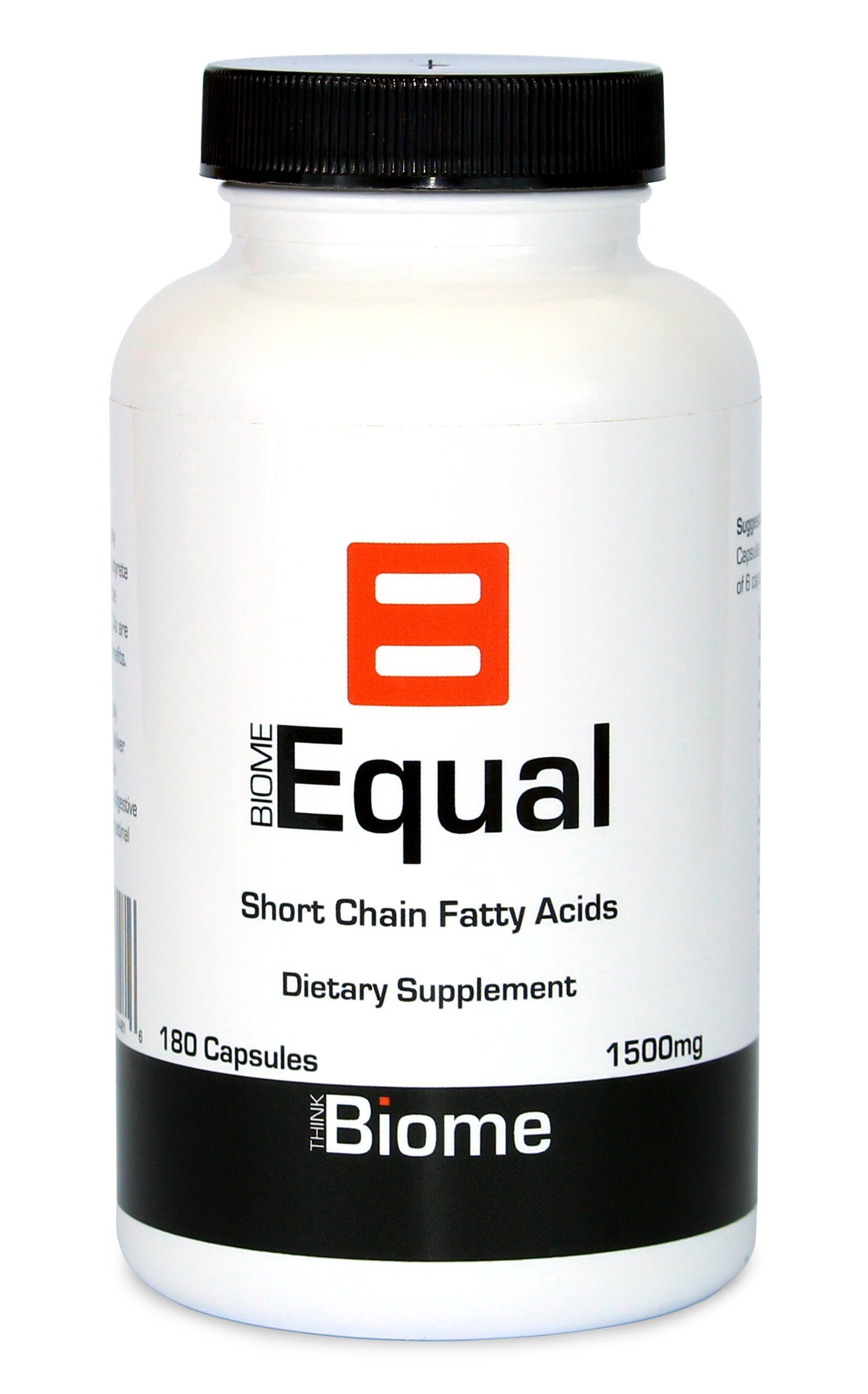 Biome Equal Butyrate Complete Postbiotic - Short chain fatty acids - 1500mg 180 Caps - ThinkBiome