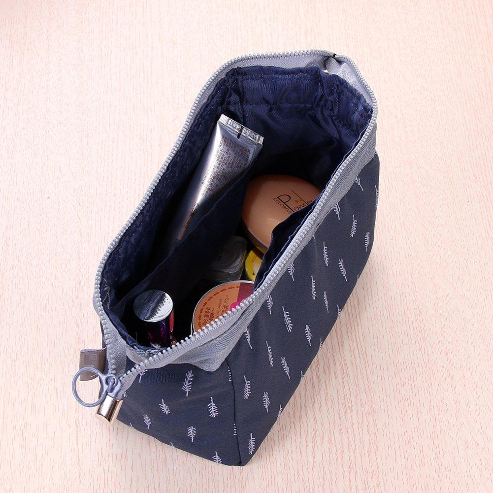 Navy Feather Meetlight Make-up-Taschen tragbare Reise ...