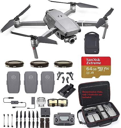 d5fb7f99f9b Amazon.com : DJI Mavic 2 Zoom with Fly More Kit Travel Bundle - 3 ...
