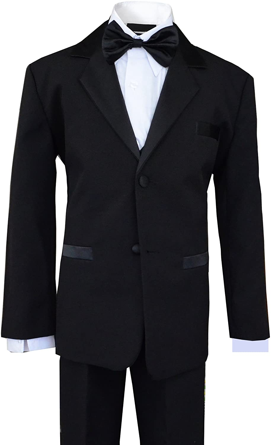 1de026b0919 Amazon.com  Boys Tuxedos in Black with Royal Blue Bow Tie and Black Bow Tie   Clothing