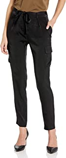 product image for James Jeans Women's Shelby Slim Slouch Tie Waist Cargos in Black