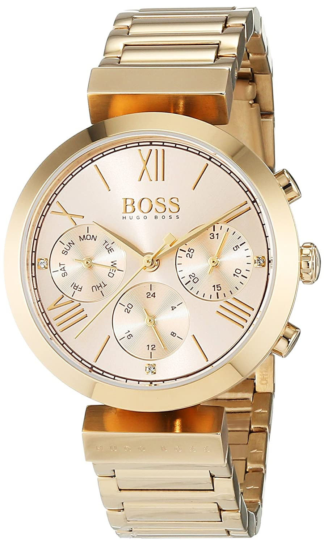 1ba33e80ccbf4 Hugo Boss Classic Women Sport Womens Quartz Pink Chronograph Gold Stainless  Steel Bracelet 1502403
