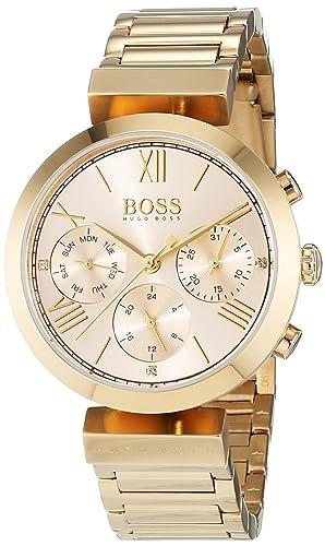 67c2544f2e9c Hugo Boss Classic Women Sport Womens Quartz Pink Chronograph Gold Stainless  Steel Bracelet 1502403  Amazon.co.uk  Watches