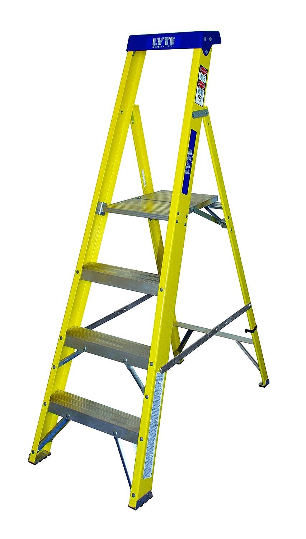Lyte Ladders GFHP4 4-Tread Platform Fibreglass Step Ladder