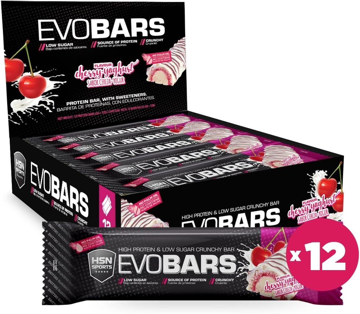 Barritas de Proteína de HSN Evobars   Snack Saludable   Rica en Proteínas + Bajas en Calorías + Bajas en Carbohidratos + Textura Crujiente + Sin ...