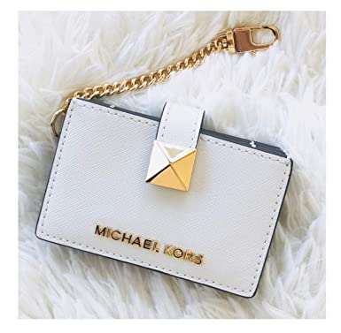 42d04798d1b4 Image Unavailable. Image not available for. Color  Michael Kors White Karla  Accordion Leather Card Case Key Chain Wallet