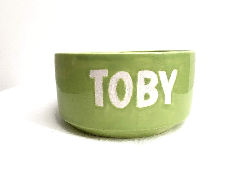 Bebedero o Comedero para perros con nombre en cerámica: Amazon.es: Handmade