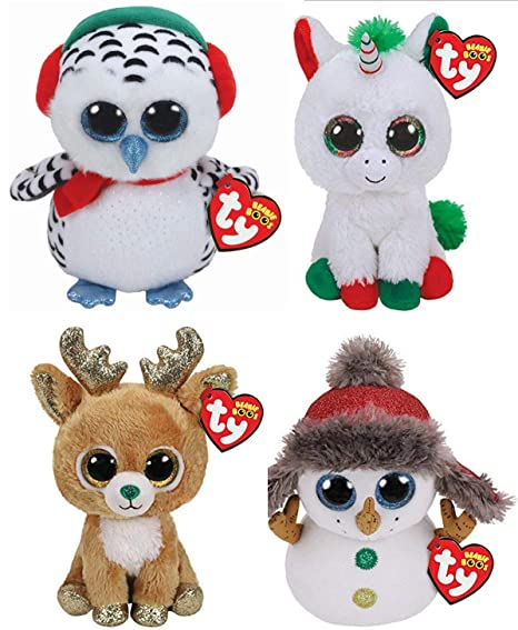 Amazon.com  BEANIE BOOS TY Christmas 2018 Bundle of 4 (6 inch) Candy ... 057e1fc4649