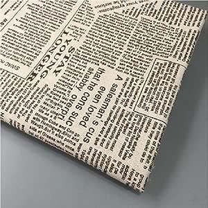 Tela de retales de algodón y lino con estampado de periódicos, tela de retales tejida resistente de lino y algodón, material de costura hecho a mano, A-STYLE, 50x150cm: Amazon.es: Hogar