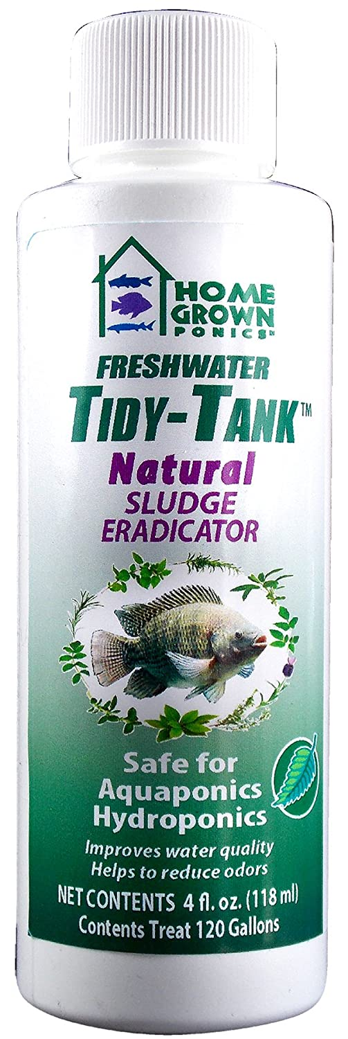HOME GROWN PONICS  96038 Tidy Tank Natural Sludge Eradicator, 4-Ounce