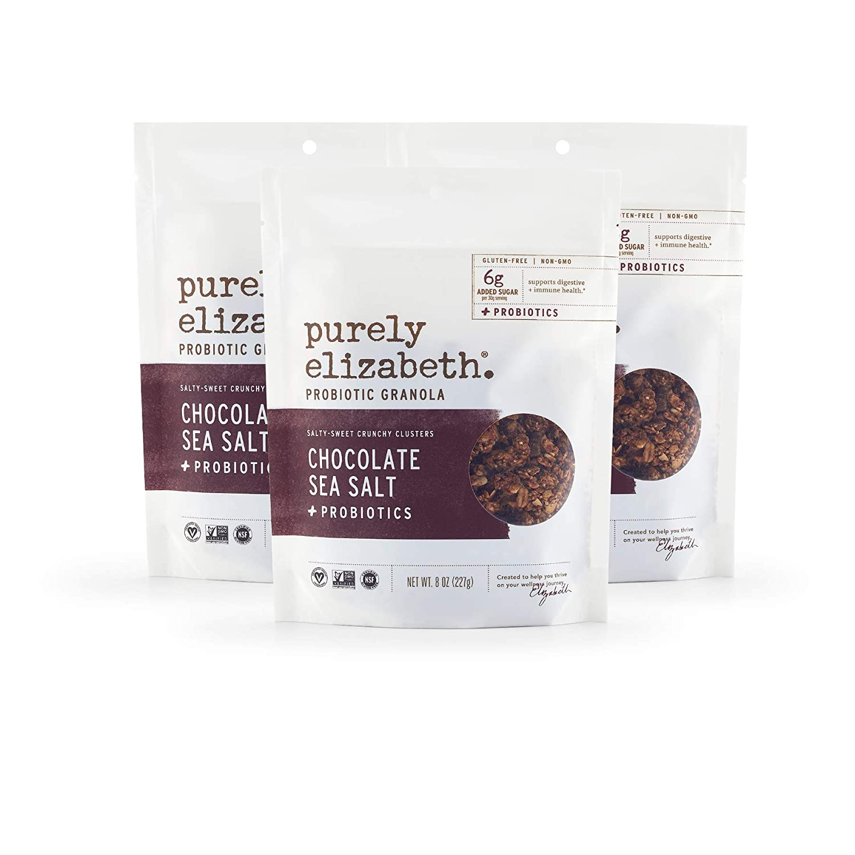 Purely Elizabeth Vegan Gluten-Free Probiotic Granola, Chocolate Sea Salt (3 Ct.)